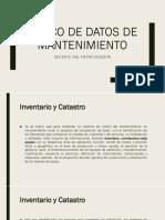 Banco de Datos de Mantenimiento Parte A
