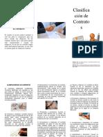 TRIFOLIAR DE LA CLASIFICACION DE CONTRATOS TAREA 1