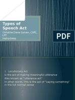 Types of speech act