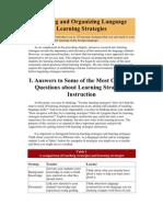 Defining and Organizing Language Learning Strategies