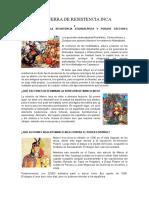 LA GUERRA DE RESISTENCIA INCA