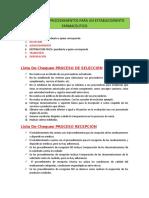 LISTA DE CHEQUEO PROCEDIMIENTOS