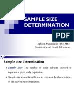 7. Sample Size determination