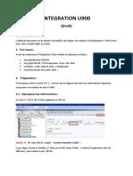 Integration U900 Draft V1
