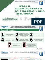 Modulo II. PLANIFICACIÓN DEL SISTEMA DE GESTIÓN DE LA SEGURIDAD Y SALUD EN EL TRABAJO