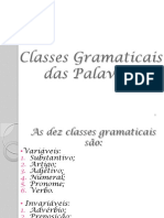 Classes de Plavras 1ano