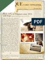 Family Newsletter 2010