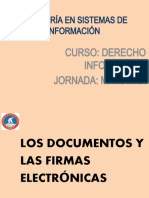 DOCUMENTOS Y FIRMAS ELECTRÓNICAS-DELITOS INFORMÁTICOS