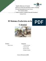 Sistema Esclavista- Epoca Colonial SECCIÓN 20121