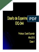 Diseño de Experimentos clase 1