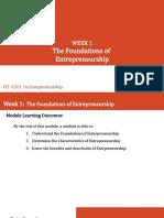 WEEK1-2 - Foundations of Entrepreneurship