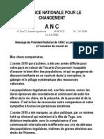 [ANC TOGO] Voeux du Président Jean-Pierre FABRE