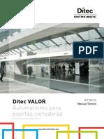 1. ES - Ditec Valor manual técnico.pdf
