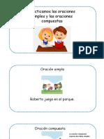 Practicamos las oraciones simples y oraciones compuestas1