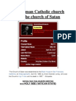 The Roman Catholic Church & The Church of Satan