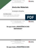 0 - Resistência dos Materiais - Introdução à disciplina.pdf