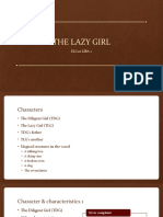 THE LAZY GIRL Analysis