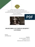 Analisis sobre la Ley Contra el Secuestro y La extorsion.docx