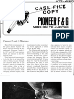 Pioneer F and G Mission to Juipter