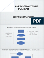 LA PLANEACION ANTES DE PLANEAR (SG)