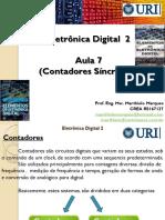 7_Aula_7_Digital_II_(Contadores_Sincronos)_Atualizado