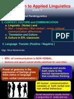 PPT 9 Paralanguage, Paralinguistics, Culture in EFL class