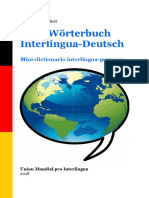 Mini-Woerterbuch Interlingua-Deutsch