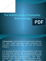 The Holistic Study of Humanity