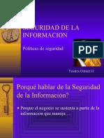 seguridad de la informacion y politicas
