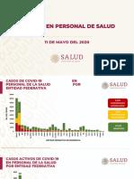 CP Salud COVID-19 en Personal Sanitario, 11may20