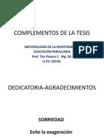 COMPLEMENTOS DE LA TESIS