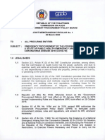 MERGENCY PROCUREMENT BY THE GOVERNMENT DURING A STATE OF PUBLIC HEALTH EMERGENCY ARISING FROM THE CORONAVIRUS DISEASE 2019 (COVID-19)