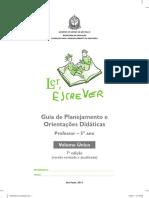 Guia de Planejamento e Orientações Didáticas - Professor - 5 Ano