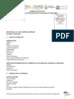 Formato CV curriculum vitae aspirantes al posgrado en Historia - UNAM