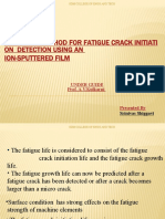 Practical Method for Fatigue Crack Experience