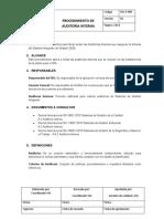 SIG-P-009 AUDITORÍA INTERNA