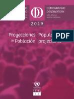 Proyecciones de Población 2019
