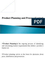 Product planning and Process planning