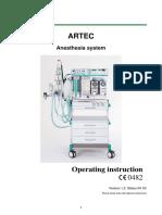 Stephan Artec Anaesthesia System 2010 - User manual
