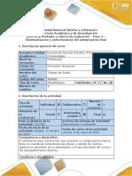 Guía de actividades y rúbrica de evaluación - Paso 4 - Sistematización y estructuración del anteproyecto final (2)