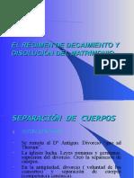 EL RÉGIMEN DE DECAIMIENTO Y DISOLUCIÓN DEL MATRIMONIO(1).ppt