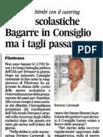 20101231 CA - Mense Scolastiche Bagarre in Consiglio Ma i Tagli Passano