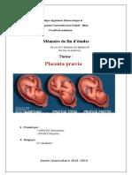 rapport de stage gynecologie-placenta praevia