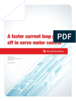 A faster current loop pays off in servo motor control