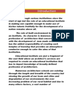 Synopsis of School of Planning and Architecture New Delhi