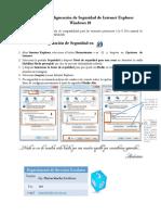 Manual de configuracion de Nivel de Seguridad de IE en Windows 10