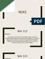 NIAS Y NIA 315