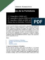 2,- Historia La Prehistoria