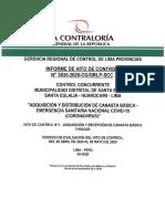 INFORME DE CONTRALORIA REPARTO DE CANASTAS EN SANTA EULALIA