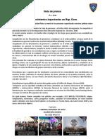 Nota de Prensa Prof. Francia Polanco